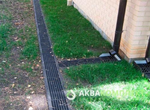 Решетки дождеприемника и ливневки на участке