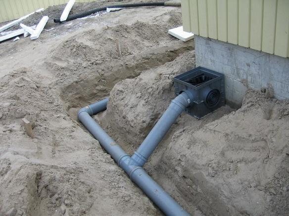 дождеприемник в системе ливневой канализации
