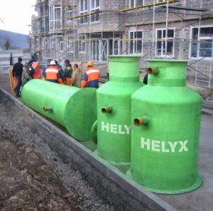 Монтаж жироуловителей Helyx
