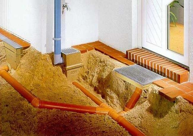 Земляные работы, монтаж глубинной ливневой канализации