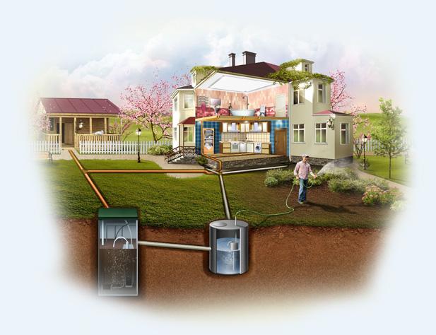 Схема автономной канализации в доме