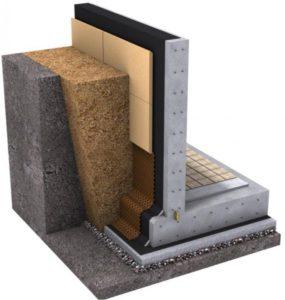 Гидроизоляция фундамента с помощью монолитного бетона