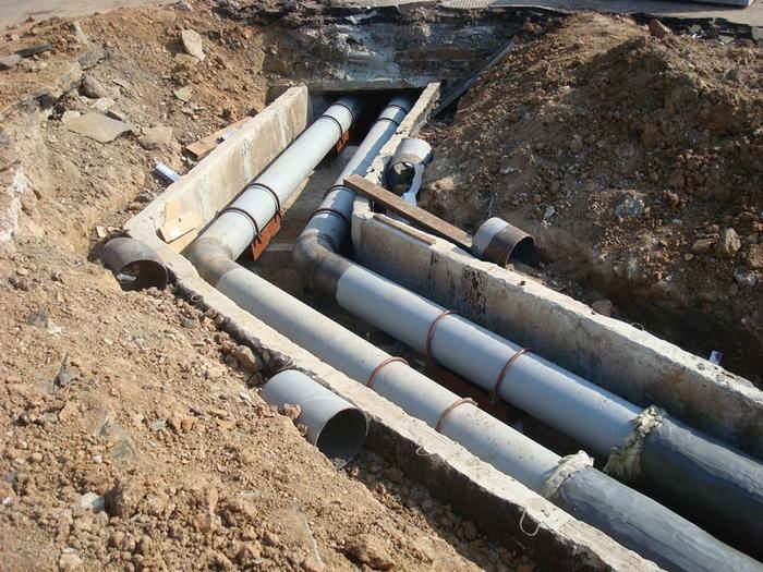 Минимальная допустимая СНИПами глубина залегания канализационных труб