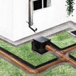схема расположения элементов ливневой канализации